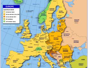 страны евросоюза на карте
