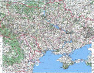 дороги украины на карте