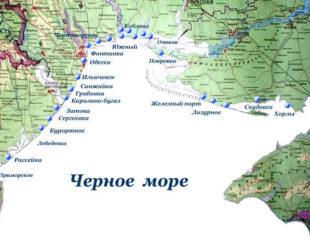 карта берегов украины