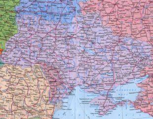 карта украины с россией