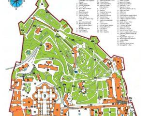 карта ватикана с достопримечательностями