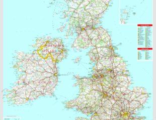большая карта великобритании