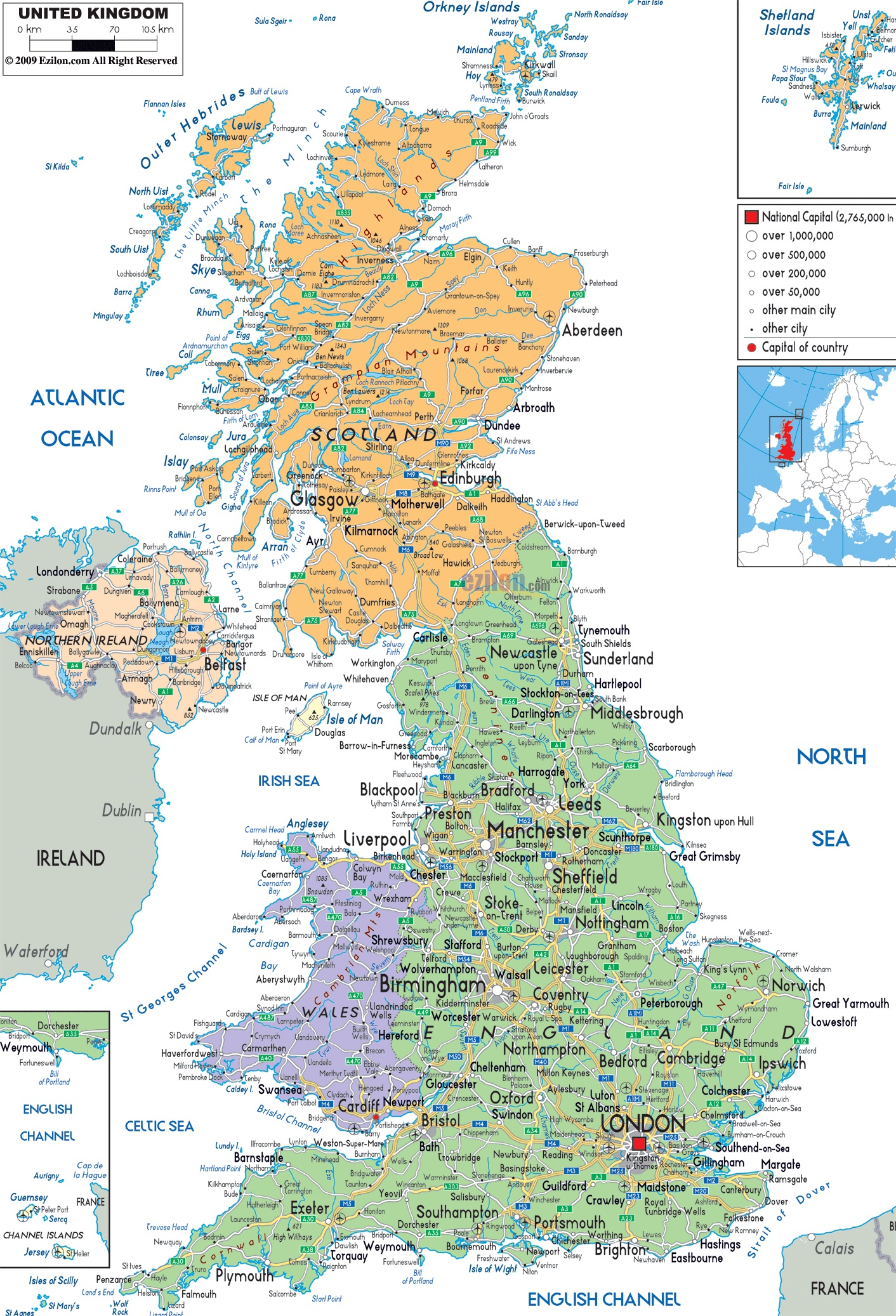 Karta Velikobritanii Gde Nahoditsya Velikobritaniya Na Karte