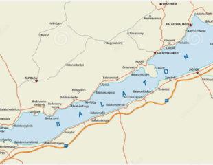 карта озера балатон