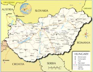 карта дорог венгрии