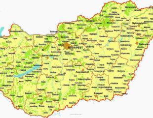 карта венгрии подробная