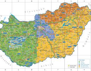 карта венгрии туристическая
