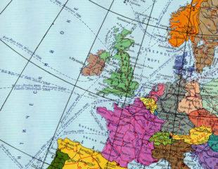 карта стран западной европы на русском