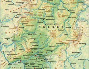 карта федеральной земли гессен
