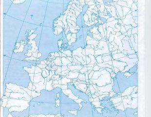 контурная карта европы 10 класс