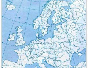 карта европы по географии