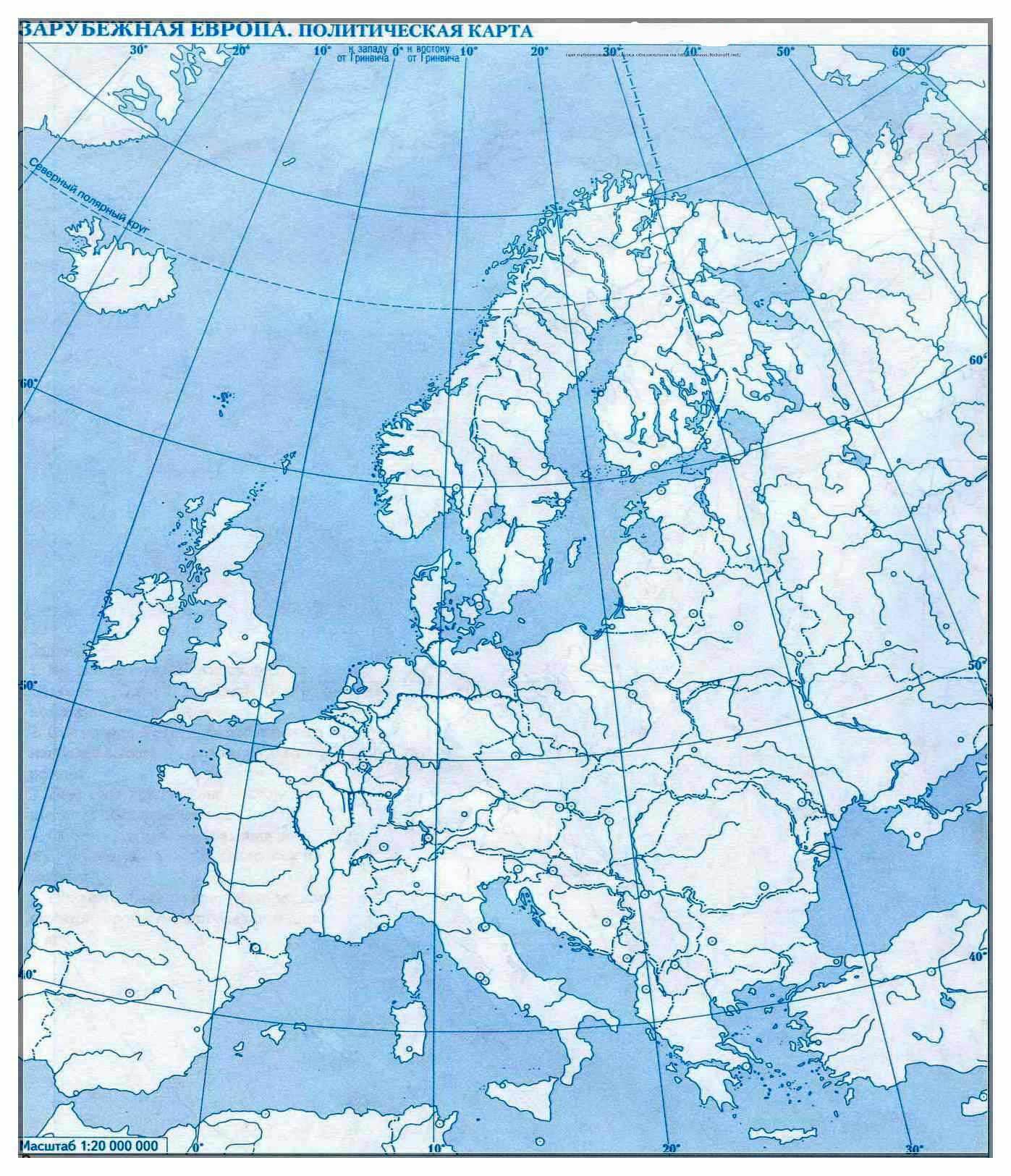 Konturnaya Karta Evropy