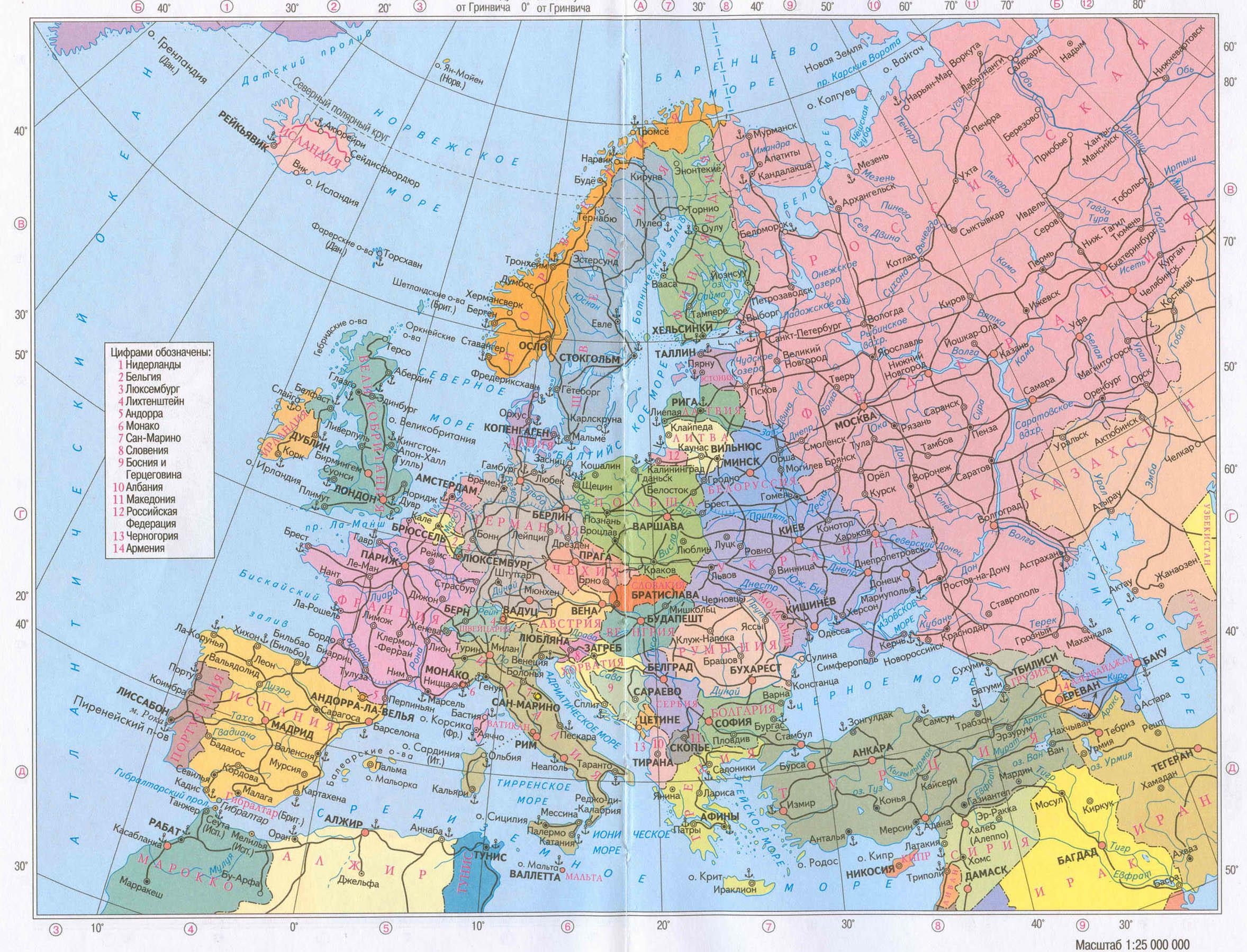 Politicheskaya Karta Evropy