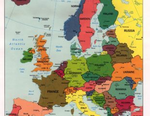 политическая карта государств зарубежной европы