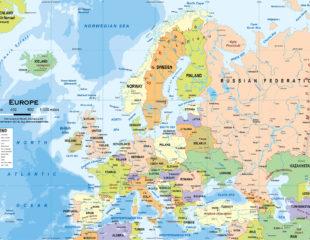 современная политическая карта стран европы